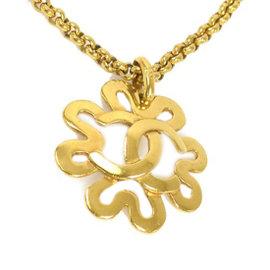 Chanel Gold Tone Hardware CC Logo Necklace