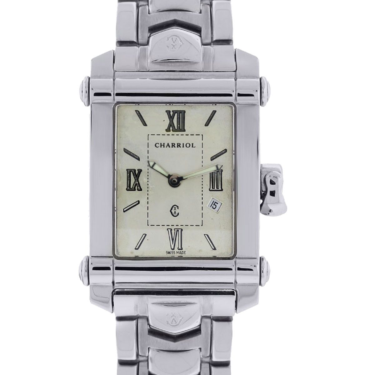 """Image of """"Philippe Charriol Columbus Ccstrh8 Stainless Steel 25mm Unisex Watch"""""""