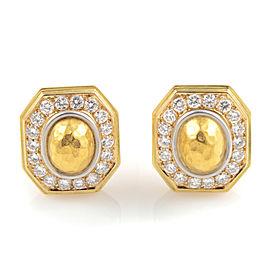Chaumet 18K Yellow Gold Diamond Clip-On Earrings