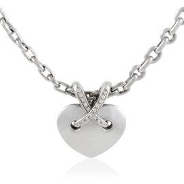 Chaumet Liens 18K White Gold Diamond Heart Pendant Necklace
