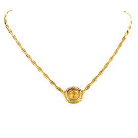 Chaumet 18K Yellow & White Gold 0.20ct Diamond Pendant Necklace