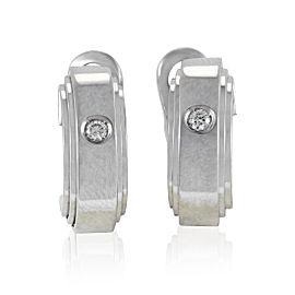 Chimento Petite 18K White Gold Diamond Hoop Earrings