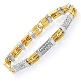 Chimento 18K Multi-Tone Gold & Diamond Link Bracelet