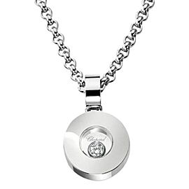 Chopard 18K White Gold Happy Diamond Icon Necklace 793086