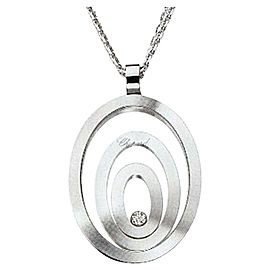 Chopard 18K White Gold Happy Spirit Diamond 795877 Necklace