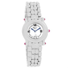 Chopard Happy Sport 27/8250-21 Stainless Steel White Dial 5 Floating Diamonds 26mm Womens Watch