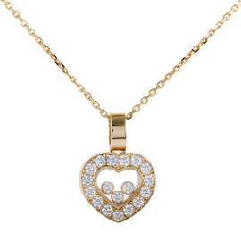 Chopard Happy Diamonds 18K Yellow Gold & Diamond Heart Pendant Necklace