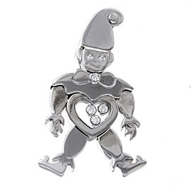 Chopard Happy 18K White Gold & Diamonds Clown Pendant