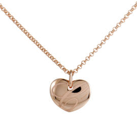 Chopard Chopardissimo 18K Rose Gold Heart Pendant Necklace