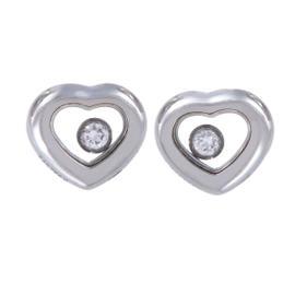 Chopard 18K White Gold Chopard Happy Diamonds Heart Stud Earrings