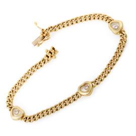 Chopard 18K Yellow Gold Happy Diamonds Floating Diamond Heart Bracelet