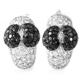 Chopard 18K White Gold Multi-Diamond Heart Clip-On Earrings