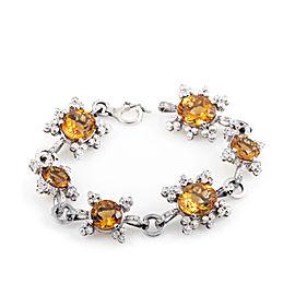 Citra 18K White Gold Diamond & Citrine Bracelet