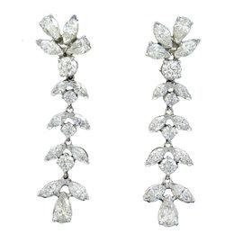 Kwiat Platinum 8.75CTW Diamond Drop Earrings