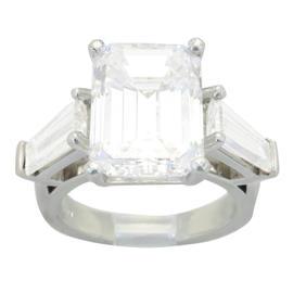 GIA Certified 6.42CTW Emerald Cut Diamond Ring