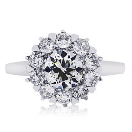 Platinum 1.82ct Diamond Engagement Ring Size 6.5