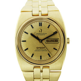 Omega Constellation Day-Date 18K Yellow Gold Mens Watch