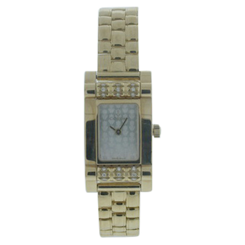 "Image of ""Corum 18K Yellow Gold Diamond 18mm x 33mm Watch"""