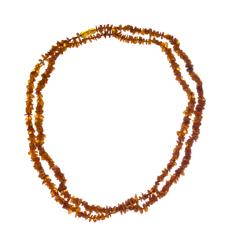 "Image of ""Baltic Amber Chip Bead Flapper Necklace"""