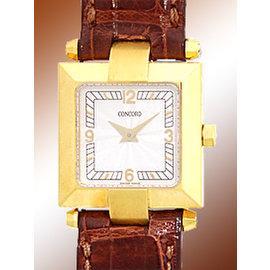 Concord La Scala 0308141 18K Yellow Gold 20mm Strap Watch
