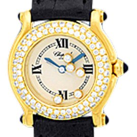 Chopard Happy Sport 18K Yellow Gold Diamond Dresswatch Womens Watch
