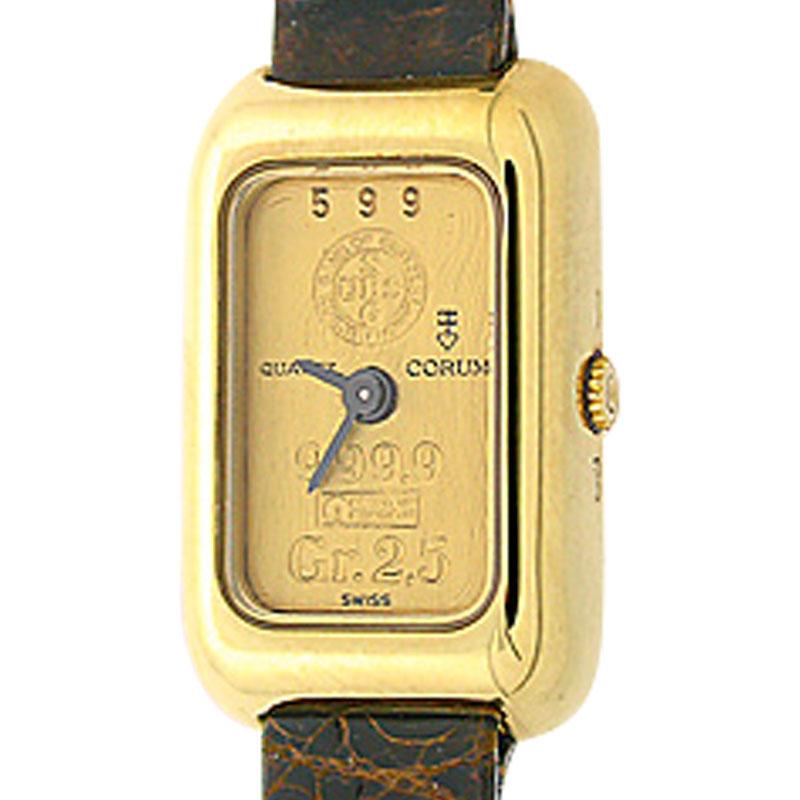 """Image of """"Corum Gold Ingot 18K Yellow Gold 2.5 gram 22mm Strap Watch"""""""