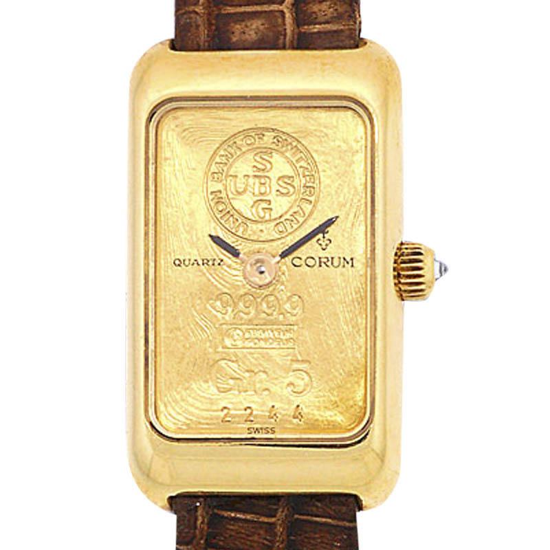 "Image of ""Corum Gold Ingot 18K Yellow Gold Womens Watch"""