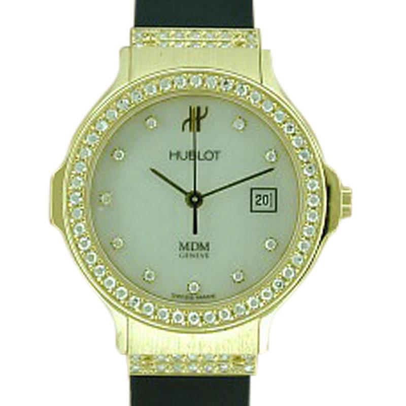 "Image of ""Hublot 18K Yellow Gold Rubber Strap Watch"""