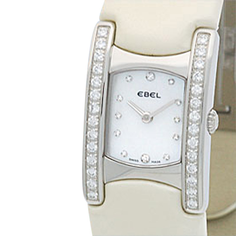 "Image of ""Ebel Stainless Steel Diamond Beluga Manchette Womens Watch"""