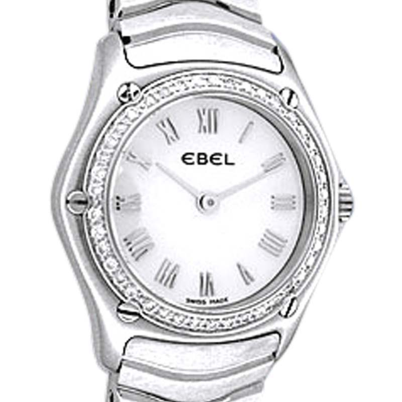 """Image of """"Ebel Classic Wave Stainless Steel Quartz 24mm Womens Watch"""""""