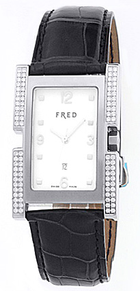 """Image of """"Fred Stainless Steel Diamond Montrй 36 Watch"""""""
