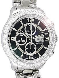 "Image of ""Ernst Benz Diamond Chronojewel Chronograph Stainless Steel Mens"""
