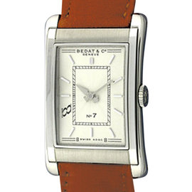 Bedat & Co. No. 7 B710.010.110 Stainless Steel and Leather 34mm Watch