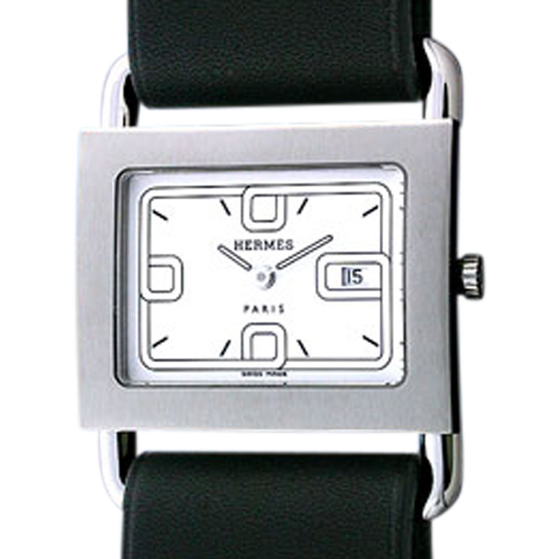 "Image of ""Hermes Barenia Stainless Steel Strapwatch"""