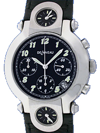 "Image of ""DeLeneau 3 Time Zone Chronograph Stainless Steel Strap Watch"""