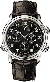 """Image of """"BlancPain Leman Reveil GMT Alarm Stainless Steel Mens Watch"""""""