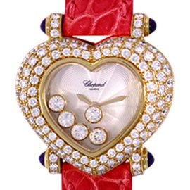 Chopard Heart Happy Diamond 18K Yellow Gold Womens Strap Womens Watch