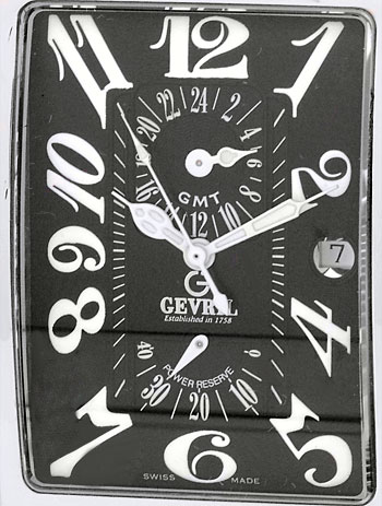 "Image of ""Gevril Avenue of the America's GMT Stainless Steel Strap Watch"""