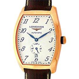 Longines Evidenza L2.642.8.513 18K Rose Gold Tonneau 39mm Strap Watch