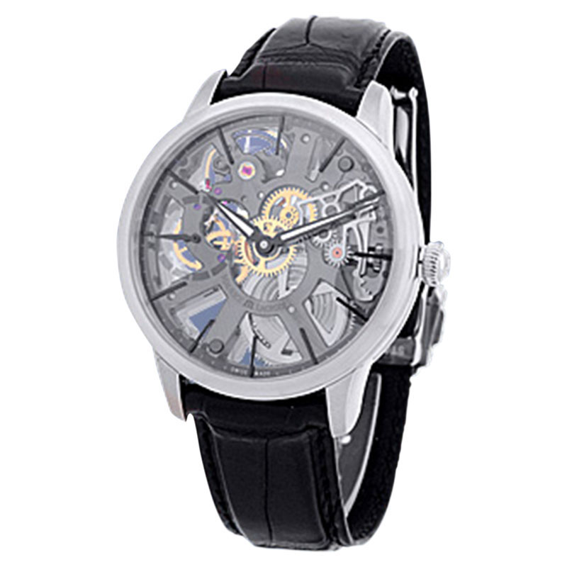 "Image of ""Maurice LaCroix Masterpiece Skeleton Stainless Steel Strap Watch"""