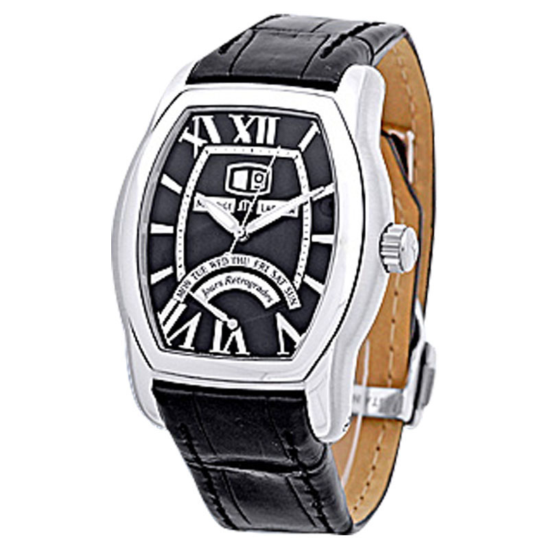 """Image of """"Maurice LaCroix Jours Retrograde Tonneau Stainless Steel Strap Mens"""""""