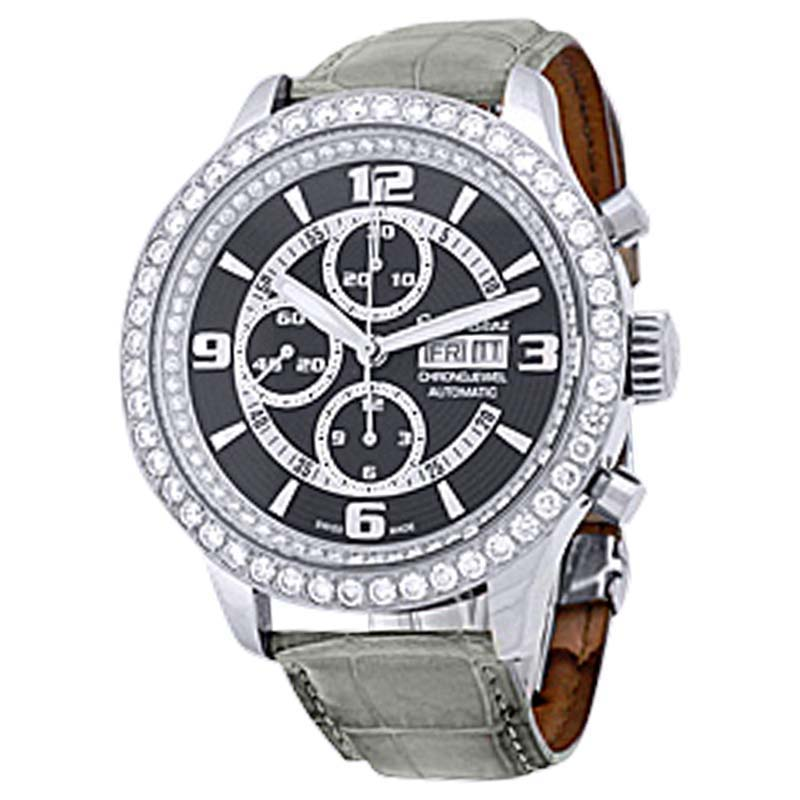 "Image of ""Ernst Benz Chrono-Jewel Chronograph Stainless Steel Mens Strap Watch"""