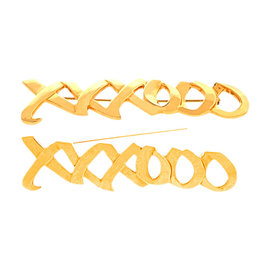 Tiffany & Co.18K Yellow Gold Paloma Picasso Designed Hugs and Kisses Pin