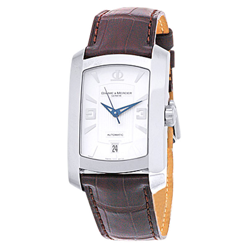 "Image of ""Baume & Mercier Hampton Milleis XL Stainless Steel Strap Mens Watch"""