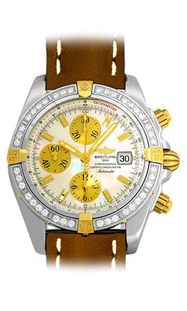 """Image of """"Breitling Chronomat Evolution B1335653 Stainless Steel & 18K Yellow"""""""