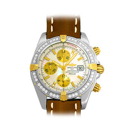 Breitling Chronomat Evolution B1335653 Stainless Steel & 18K Yellow Gold 43mm Mens Watch