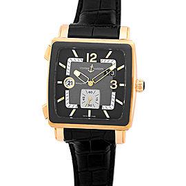 Ulysse Nardin Quadrato Dual Time 18K Rose Gold Strap Mens Watch