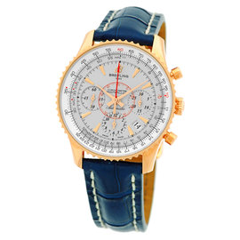Breitling Montbrillant 01 Navitimer Chronograph 18K Rose Gold Strap Mens Watch