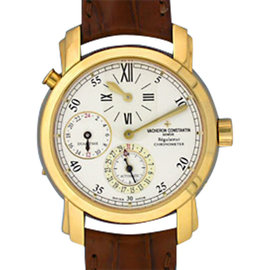 Vacheron Constantin Malte Dual Time Regulateur 18K Yellow Gold Mens Watch