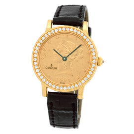 Corum 1894 Ten Dollar U.S. Coin 18K Yellow Gold Diamond Dress Unisex Watch